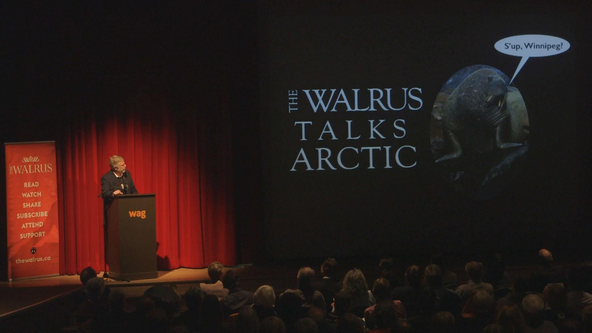 Video still of James Raffan from The Walrus Talks Arctic