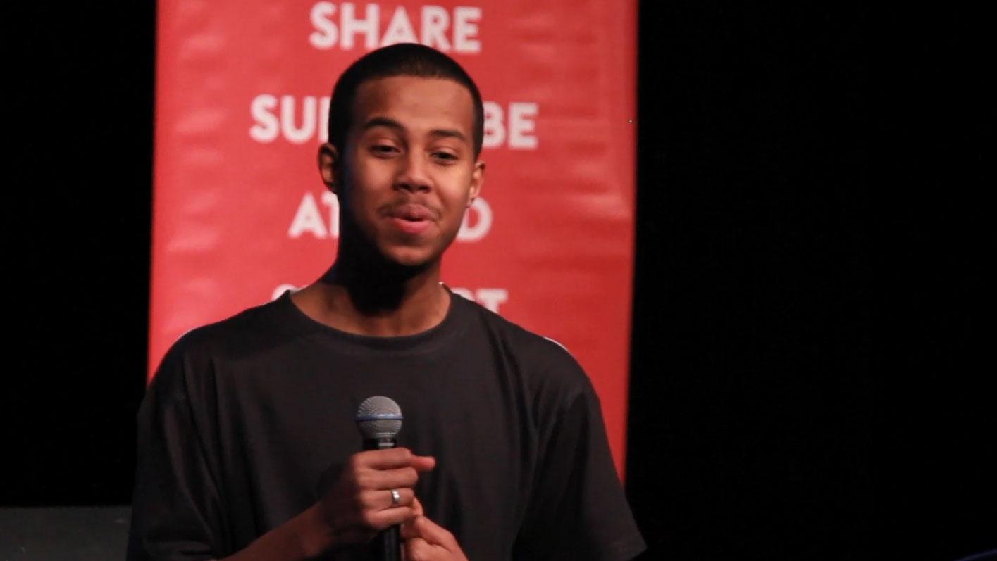 Video still of Mustafa Ahmed from The Walrus Talks Creativity at Western University