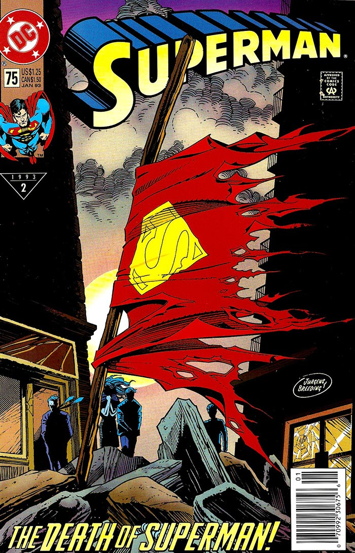Superman Vol. 2, No. 75 cover art