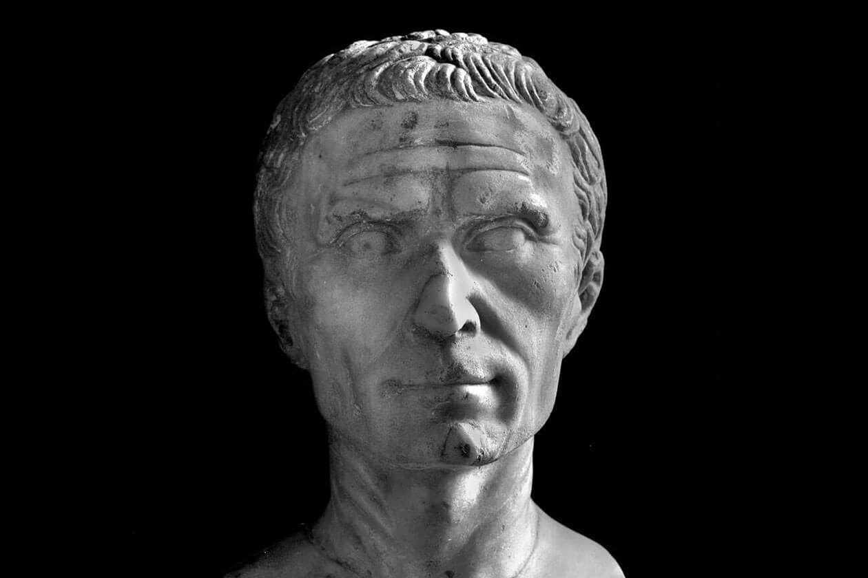 A bust thought to be of Gaius Julius Caesar.
