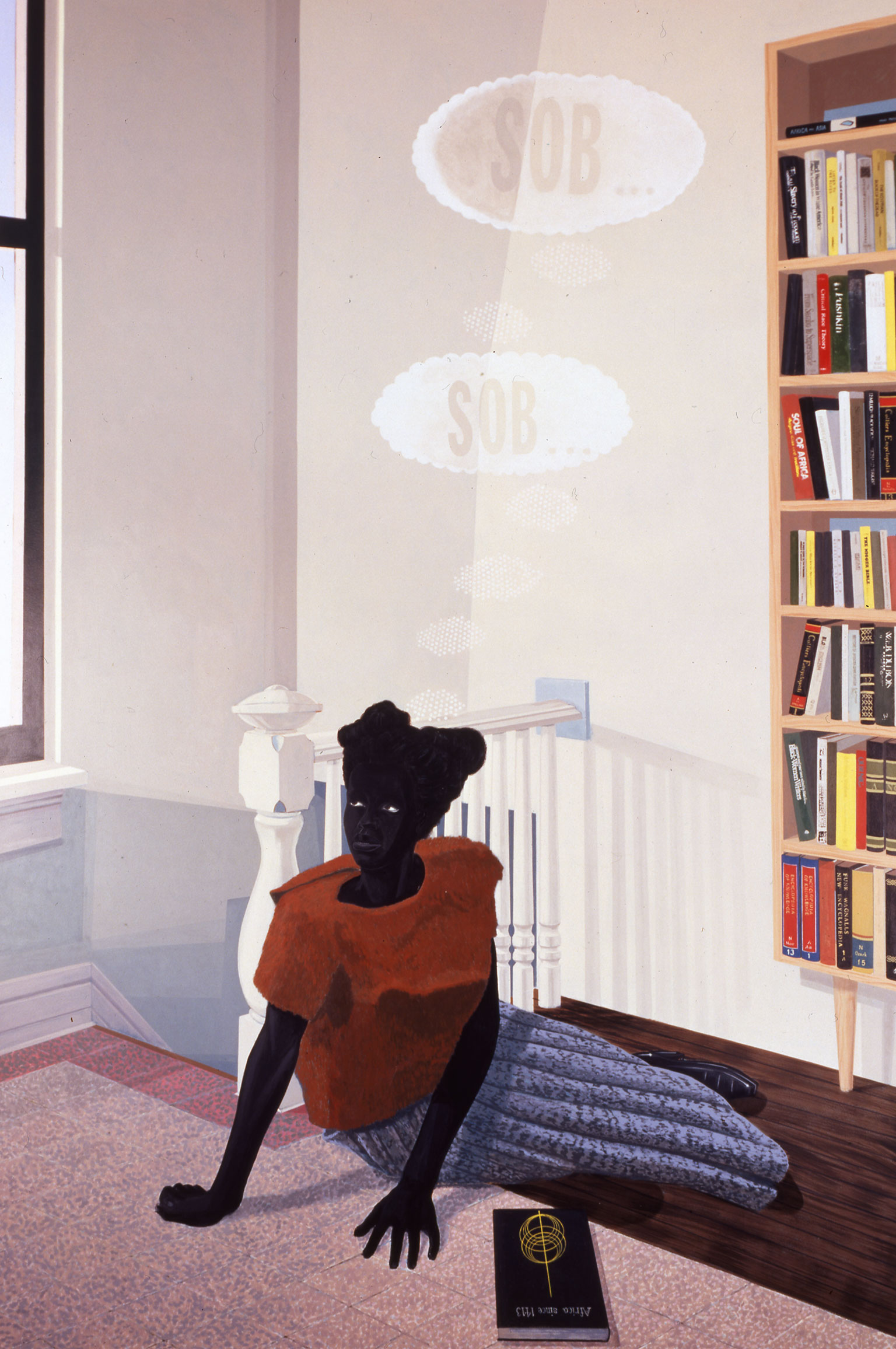 Painting by Kerry James Marshall