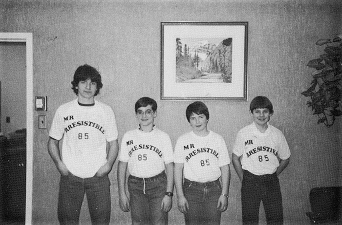 Photograph from the Springbank Junior High yearbook, 1984–85/courtesy of Jeff Nield