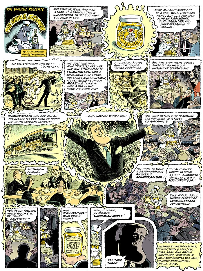 Comic Illustration by Jason Sherman and David Parkins