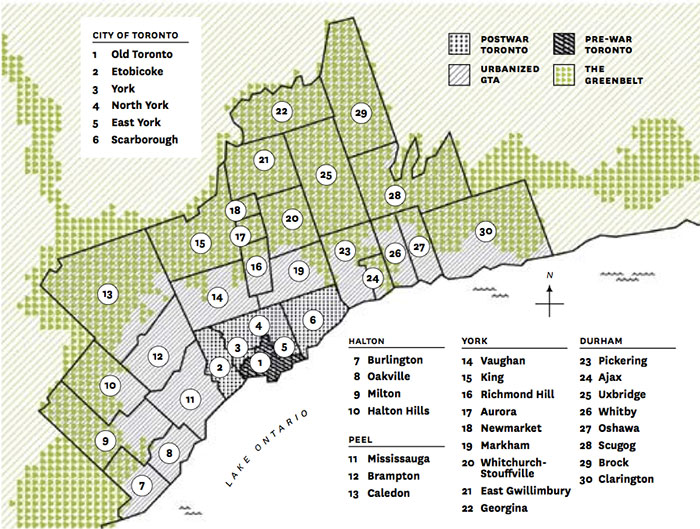 Map of the Greater Toronto Area by Jack Dylan